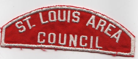 RWS St. Louis Area  Missouri Red & White Shoulder Strip CSP (sewn) [MO405]