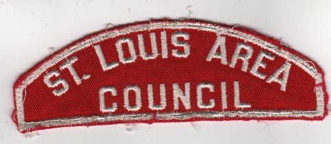 RWS St. Louis Area  Missouri Red & White Shoulder Strip CSP (sewn) [MO407]