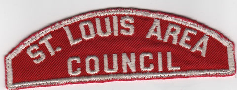 RWS St. Louis Area  Missouri Red & White Shoulder Strip CSP (sewn) [MO408]