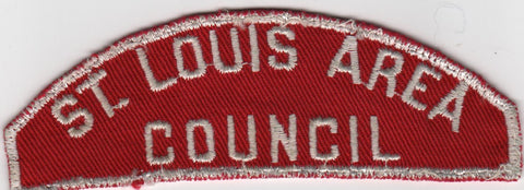 RWS St. Louis Area  Missouri Red & White Shoulder Strip CSP (sewn) [MO409]