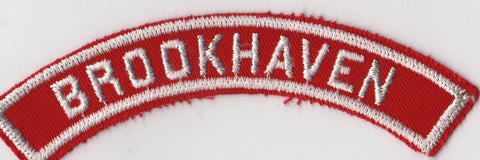 BROOKHAVEN RWS Red & White Community Strip (tacky backing, otherwise mint)