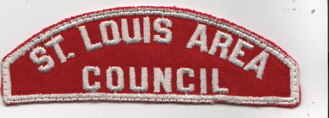 RWS St. Louis Area  Missouri Red & White Shoulder Strip CSP (sewn) [MO412]