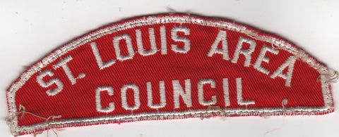 RWS St. Louis Area  Missouri Red & White Shoulder Strip CSP (sewn) [MO413]