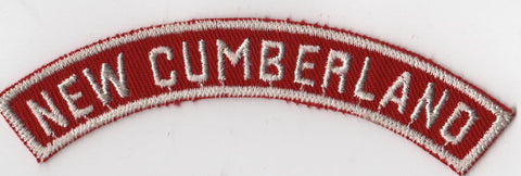 NEW CUMBERLAND RWS Red & White Community Strip (tacky backing, otherwise mint)
