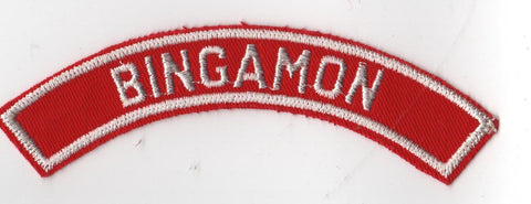 BINGAMON RWS Red & White Community Strip (tacky backing, otherwise mint)