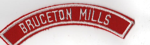 BRUCETON MILLS RWS Red & White Community Strip (tacky backing, otherwise mint)
