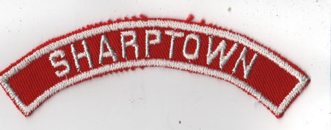 SHARPTOWN RWS Red & White Community Strip (tacky backing, otherwise mint)