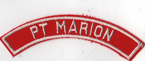 PT MARION RWS Red & White Community Strip (tacky backing, otherwise mint)