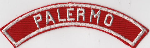 PALERMO RWS Red & White Community Strip (tacky backing, otherwise mint)