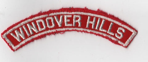 WINDOVER HILLS RWS Red & White Community Strip (tacky backing, sewn)