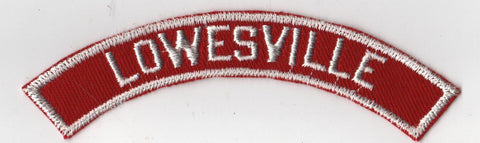 LOWESVILLE RWS Red & White Community Strip [RWS410]<<