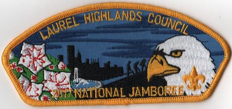 2017 National Scout Jamboree Laurel Highlands Council Yellow Border JSP - Scout Patch HQ