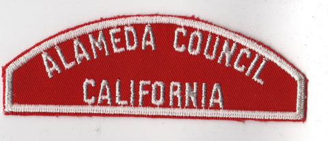 RWS Almeda Council California Red & White Shoulder Strip CSP (tacky backing, otherwise mint)