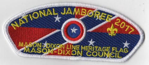 2017 National Scout Jamboree Mason Dixon Council White Bdr. JSP [C3159] - Scout Patch HQ
