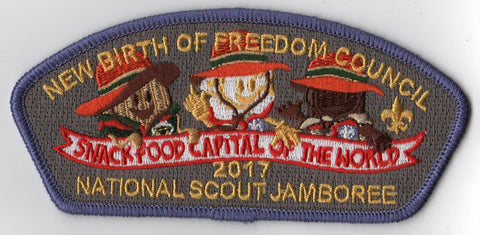 2017 National Scout Jamboree New Birth of Freedom Council Purple JSP [C3184] - Scout Patch HQ