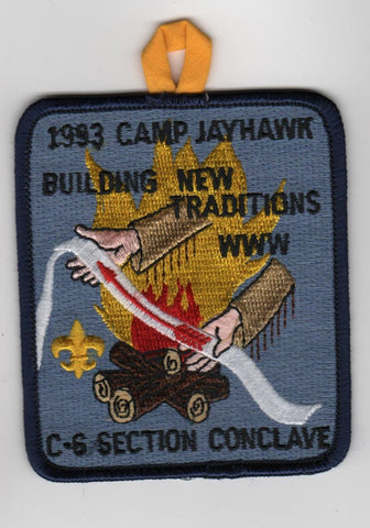 1993 Section C-6 Conclave Camp Jayhawk Yellow Tab Bulding New Traditions [MO239]