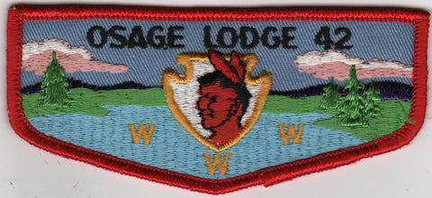 OA Lodge # 42 Osage Lodge F2 Flap Clothback Pre-fdl Ozark Area  [MO248]