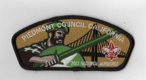 2017 National Scout Jamboree Piedmont  California tan/blk JSP [FB224]