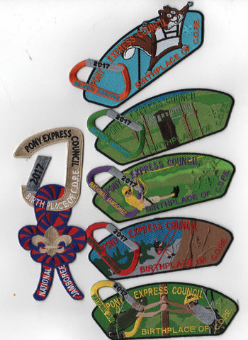 2017 National Scout Jamboree Pony Express  6 pc Set JSP [FB240]