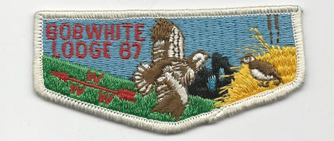 OA Lodge Bob White 87 S3 Flap Pre-fdl Georgia-Carolina Council [SMV103]