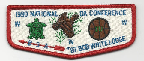 OA Lodge Bob White 87 S6 Flap 1990 NOAC Georgia-Carolina Council [SMV107]