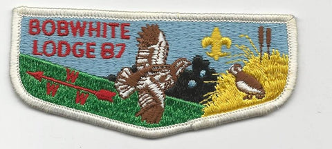 OA Lodge Bob White 87 S4 Flap Georgia-Carolina Council [SMV104]