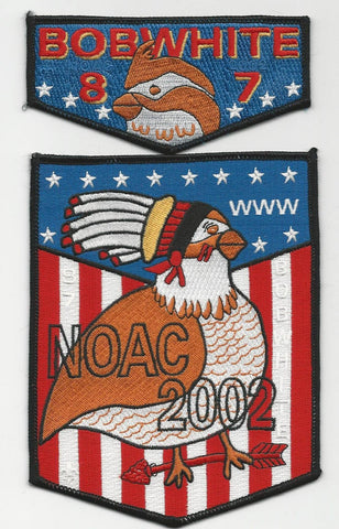 OA Lodge Bob White 87 S16 + X4 Flap 2002 NOAC Georgia-Carolina Council [SMV117]