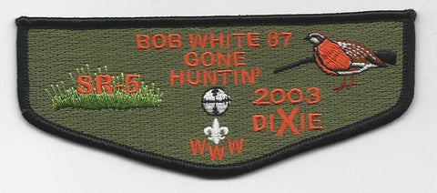 OA Lodge Bob White 87 S20 Flap 2003 Dixie Fellowship Georgia-Carolina Council [SMV120]