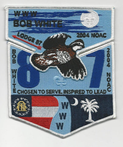 OA Lodge Bob White 87 S24 + X6 Flap 2004 NOAC Georgia-Carolina Council [SMV123]