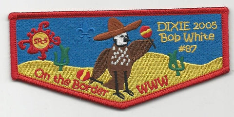 OA Lodge Bob White 87 S27 Flap 2005 Dixie Fellowship Georgia-Carolina Council [SMV124]
