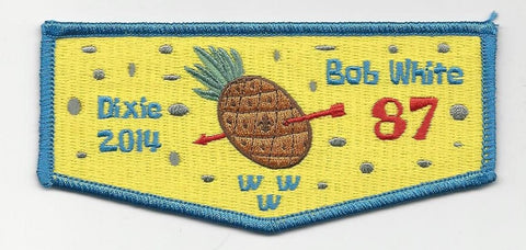 OA Lodge Bob White 87 S67  Flap 2014 Dixie Fellowship Georgia-Carolina Council [SMV128]