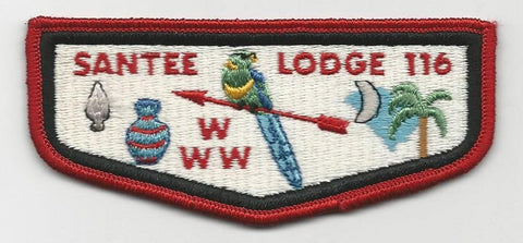 OA Lodge Santee 116 S2 Flap Old Ordeal Pee Dee Area SC [SMV134]
