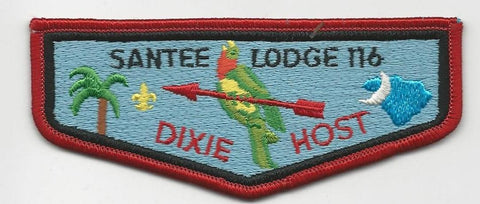 OA Lodge Santee 116 S9 Flap 1983 Dixie Host Pee Dee Area SC [SMV140]