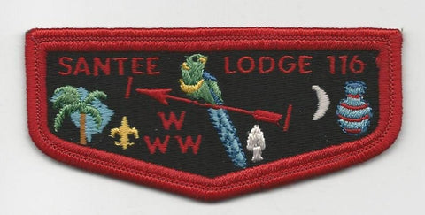OA Lodge Santee 116 S6 Flap Brotherhood BLK pb Pee Dee Area SC [SMV138]
