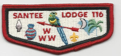 OA Lodge Santee 116 S5 Flap Ordeal Clothback Pee Dee Area SC [SMV137]