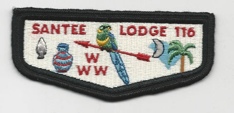 OA Lodge Santee 116 QS1 Double Black Border Pee Dee Area SC [SMV200]