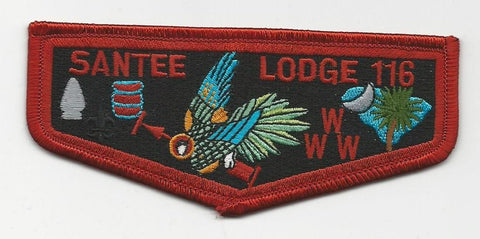 OA Lodge Santee 116 S13b Flap Brotherhood Pee Dee Area SC [SMV146]