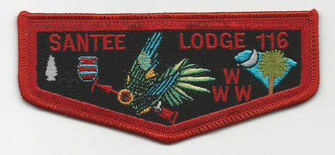 OA Lodge Santee 116 S13a Flap Brotherhood Pee Dee Area SC [SMV145]