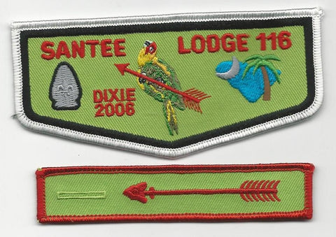 OA Lodge Santee 116 F4 + X8 Flap 2006 Dixie Fellowship Pee Dee Area SC [SMV155]