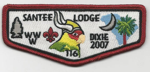 OA Lodge Santee 116 S24 2007 Dixie Fellowship Pee Dee Area SC [SMV158]