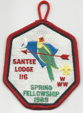 OA Lodge Santee 116 1989 Spring Fellowship Pee Dee Area SC [SMV195]