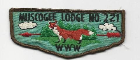 OA Lodge 221 Muscogee F2a Flap Indian Waters Council (sewn) [SMV502]