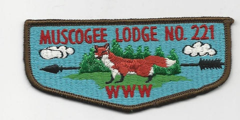OA Lodge 221 Muscogee S3 Flap Indian Waters Council [SMV511]