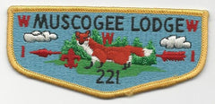 OA Lodge 221 Muscogee S8b Flap Indian Waters Council [SMV516]
