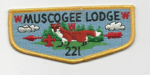 OA Lodge 221 Muscogee S6 Flap Indian Waters Council [SMV514]