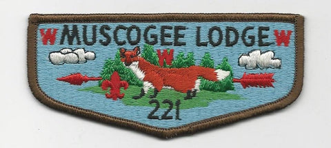 OA Lodge 221 Muscogee S7 Flap Indian Waters Council [SMV515]