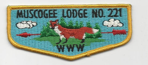 OA Lodge 221 Muscogee S5 Flap Indian Waters Council [SMV513]