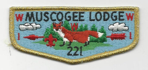 OA Lodge 221 Muscogee S10 Flap Indian Waters Council [SMV519]