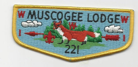 OA Lodge 221 Muscogee S8c Flap Indian Waters Council [SMV517]