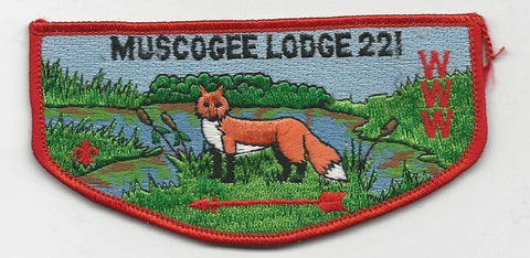 OA Lodge 221 Muscogee S13 Flap Indian Waters Council [SMV522]